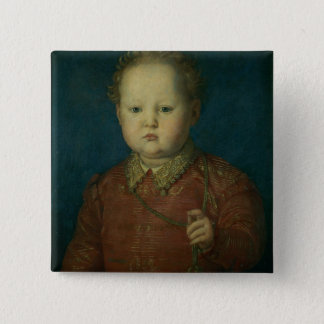 Don Garcia de Medici (?) c.1550 (oil on panel) Pinback Button