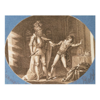 Don Giovanni and the statue of the Commandantore Postcard