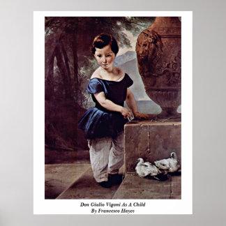 Don Giulio Vigoni As A Child By Francesco Hayez Posters