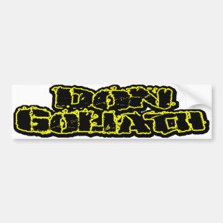 Don Goliath Bumper Sticker