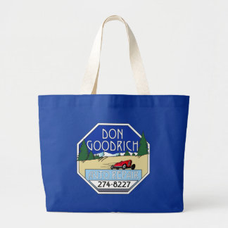 Don Goodrich Auto Repair Large Tote Bag