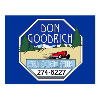 Don Goodrich Auto Repair Postcard