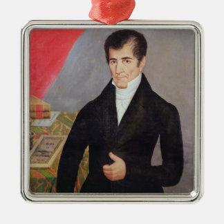 Don Jose Cecilio del Valle Metal Ornament