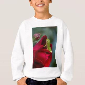 Don Juan Red Rose and Green Tree Frog Sweatshirt