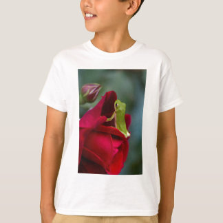Don Juan Red Rose and Green Tree Frog T-Shirt
