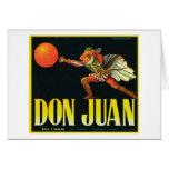 Don Juan Vintage Crate Label Card