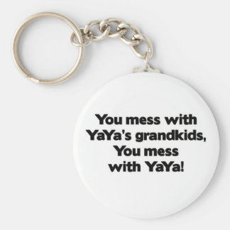 Don' lío de t con YaYa' Grandkids de s Llavero Redondo Tipo Pin
