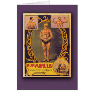 Don Manuelo, Tattooed Man on Cards, Postcards