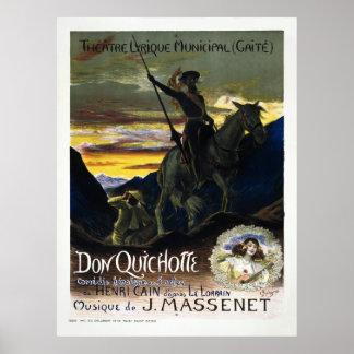 Don Quichotte de Jules Massenet Posters