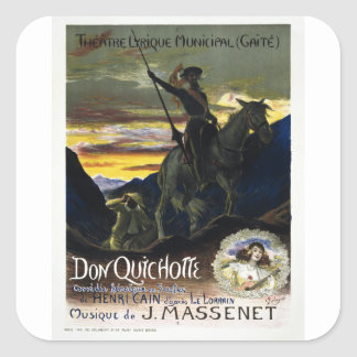Don Quichotte de Jules Massenet Calcomanía Cuadradas Personalizada