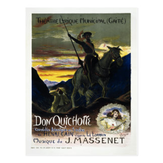 Don Quichotte de Jules Massenet Tarjetas Postales