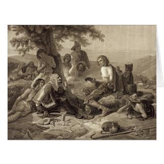 Don Quijote 1845 Tarjeta De Felicitación Grande