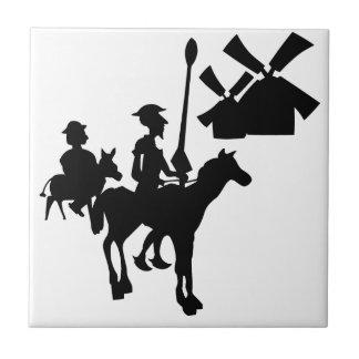 Don Quijote Azulejo Cuadrado Pequeño