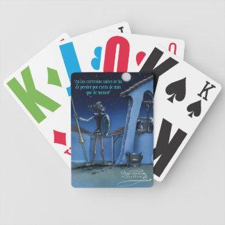 """DON QUIJOTE - by Cervantes """"En las cortesías, ... Bicycle Playing Cards"""