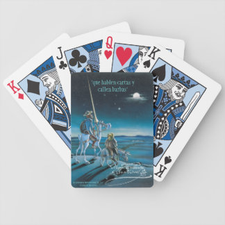 """DON QUIJOTE - by Cervantes """"Que hablen cartas y... Bicycle Playing Cards"""