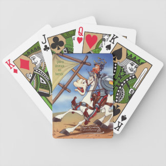 """DON QUIJOTE - by Cervantes """"Quien destaja..."""" Bicycle Playing Cards"""