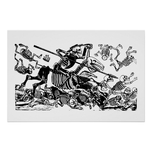 Don Quijote by José Guadalupe Posada Poster