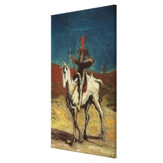 Don Quijote, c.1865-1870 Impresión En Lona