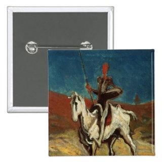 Don Quijote, c.1865-1870 Pin Cuadrado