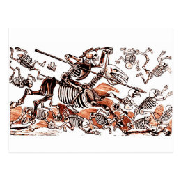 Don Quijote Calavera Postcard