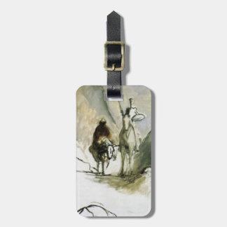Don Quijote de Honore Daumier-, Sancho Pansa Etiqueta De Equipaje