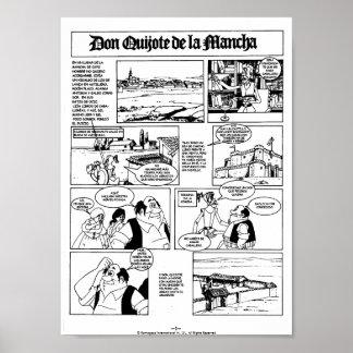 DON QUIJOTE DE LA MANCHA - CÓMIC-Página 01 Posters