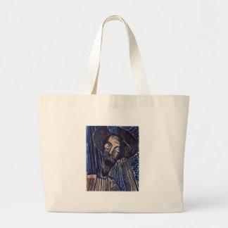 Don Quijote en azul y moho Bolsa Tela Grande