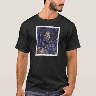 Don Quijote en azul y moho Playera