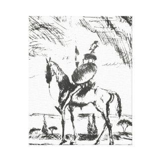 Don Quijote Lienzo Envuelto Para Galerias