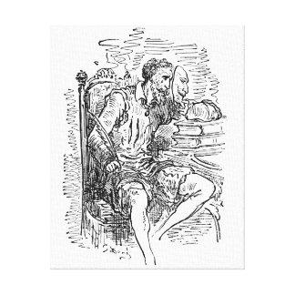 Don Quijote Impresiones En Lienzo Estiradas