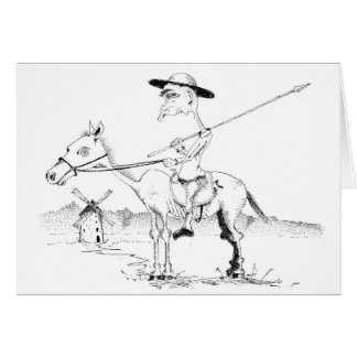 Don Quijote note card
