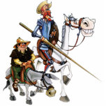 """DON QUIJOTE &amp; SANCHO -Keychain Sculpture. Cutout<br><div class=""""desc"""">The Cartoon animation series &quot;DON QUIXOTE OF LA MANCHA&quot;• was first seen on TV back in 1979, since then, it has been aired by TV stations around the globe. Don Quixote was first published in 1605 and it&#39;s continuation in a second part was published in 1615. Our merchandising commemorates the...</div>"""