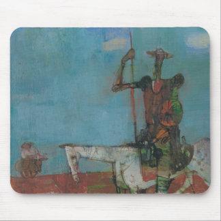 Don Quijote Sancho lento Stanislav Stanek Tapete De Raton