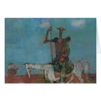 Don Quijote Sancho lento Stanislav Stanek Tarjeta De Felicitación