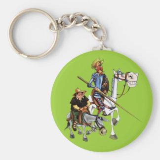DON QUIJOTE, SANCHO,...- Llavero-Cervantes Keychain