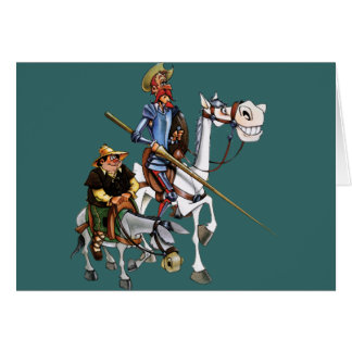 DON QUIJOTE, SANCHO, ROCINANTE y RUCIO - Cervantes Card