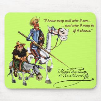 DON QUIJOTE, SANCHO, ROCINANTE y RUCIO - Cervantes Mouse Pad