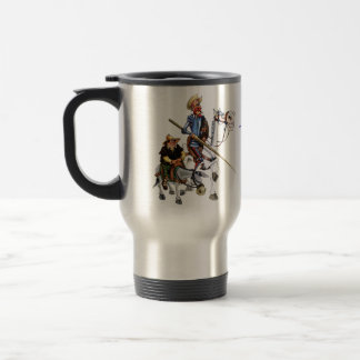 DON QUIJOTE, SANCHO, Taza - Cervantes Mug