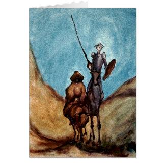 Don Quijote Tarjeta De Felicitación