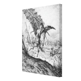 Don Quijote y los molinoes de viento Impresión En Lona