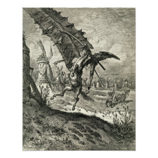 Don Quijote y los molinoes de viento Posters