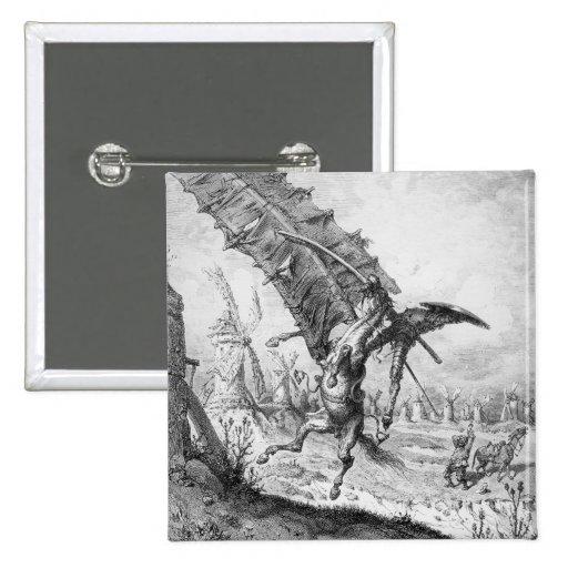 Don Quijote y los molinoes de viento Pin