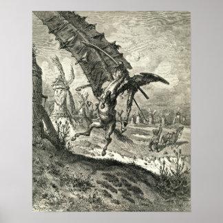 Don Quijote y los molinoes de viento Póster