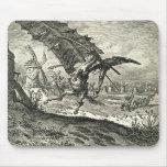 Don Quijote y los molinoes de viento Tapetes De Ratones