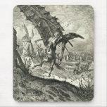 Don Quijote y los molinoes de viento Alfombrilla De Ratón