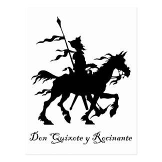 Don Quijote y Rocinante Tarjetas Postales