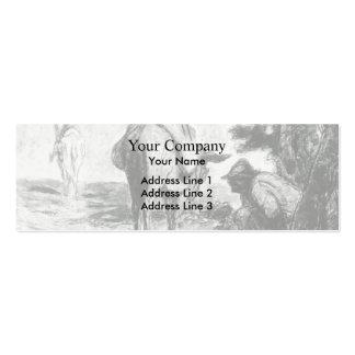 Don Quijote y Sancho Pansa de Honore Daumier Tarjeta De Negocio