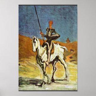 Don Quijote y Sancho Panza de Daumier Honoré (sea Impresiones
