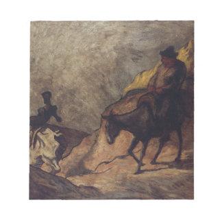 Don Quijote y Sancho Panza de Honoré Daumier Bloc De Papel