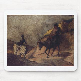 Don Quijote y Sancho Panza de Honoré Daumier Tapetes De Raton